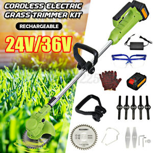 24V/36V Electric Cordless String Trimmer Weed Eater Lawn Cutter Edger Grass Yard