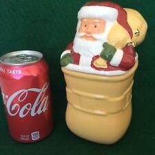 Longaberger Butternut Square Mug with a Santa Lid New Plus Choice Free Gift Bag
