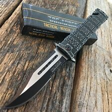 TAC-FORCE Black Straight ASSISTED Folding SAWBACK Glassbreaker Knife! TF-710SW-F