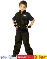 SWAT Commander Military Police Boys Fancy Dress Up Book Week Kids Costume