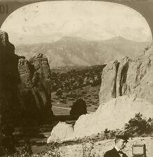 Keystone Stereoview Pike's Peak w/Photographer & Camera 1910s Education Set #ALC