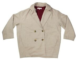 Free People Slouchy Fit Double Breasted Women's Blazer Jacket Small NWT Camel