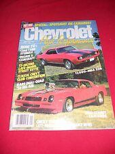Chevrolet High Performance '88 Camaros history show & drag cars tri-5 Chevies