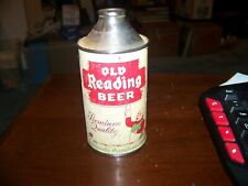 Old Reading Premium Quality 12 Oz. Cone Top Beer Can Vintage Tough Can