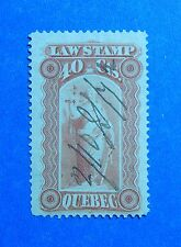 1871 40c CANADA QUEBEC LAW REVENUE VD # QL18 B # 18 USED                 CS32714