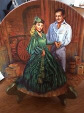 "Gone With The Wind 8.5 Inch Plate ""Scarlett's Green Dress"" Plare#12370E"