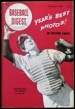 Baseball Digest - 1949 January - Jim Hegan of the Cleveland Indians on the Cover