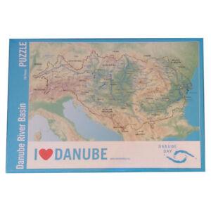 100 Teile Puzzle - Danube River Basin - Donaudelta - Danube Day - NEU & OVP
