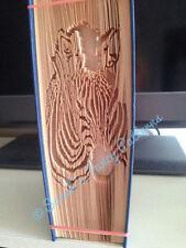 Book Art Folding PATTERN Zebra Cut And Fold #549