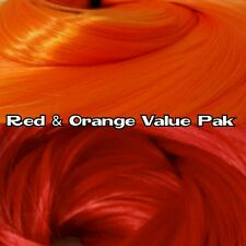 Red & Orange XL 2 Color Value Pack Nylon Doll Hair Rooting Monster High & MLP