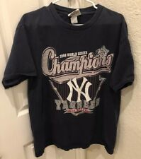 Mens 1998 World Series Champions Roster Yankees Navy T-Shirt Size L Large