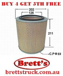 AIR FILTER MAZDA T3500 SL T4000 TF T4600 TM MOST PARKWAY BUSES CHECK SIZES !!!!!