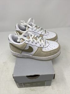 Nike Air Force One Cream Tan And White Toddler Shoes Size 10c 314194-121