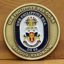 "New listing Uss Philippine Sea (Cg-58) Cruiser Challenge Coin ""Eternal Vigilance"""