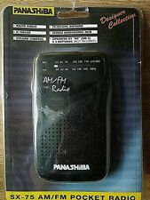PanashiBa Sx-75 Am/Fm Pocket Radio Designer Collection Vintage Electronics