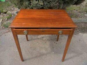 Georgian mahogany single draw side table.