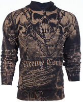 XTREME COUTURE by AFFLICTION Mens Hoodie Sweat Shirt Jacket KILLER Biker $78
