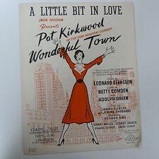 """Canción Hoja un poco de amor """"maravillosa ciudad"""" Leonard Bernstein 1953"""