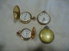 Antique pocket watch 5pc lot gold filled works / parts / repair