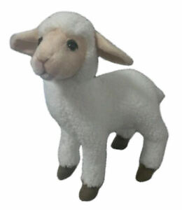 "NEW + Tag - Sheep Kid White Ewe Lamb Plush Stuffed Animal 11"" by Hansa Toys 3455"