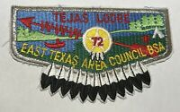 OA Lodge 72 Tejas Texas Flap  Mint  SMY CE BC1