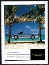 2001 CHRYSLER Sebring LXi Convertible AD Car Advertising