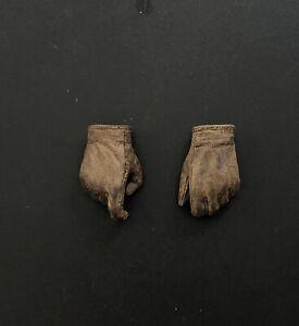 Hot Toys DX05 INDIANA JONES Figure 1/6 GLOVED HANDS CUSTOM WEATHERED