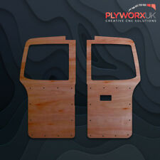VW T5 QUALITY CNC ROUTED 3.6mm FULL HEIGHT BARN DOOR PANELS WITH WINDOW CUTOUTS