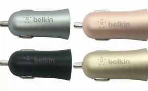 Belkin MIXIT Metallic 2.4A Fast Car USB Charger Charging Port Various Colours