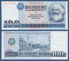 RDA 100 mark 1975 caisses fraîchement/UNC ros.363a Karl Marx