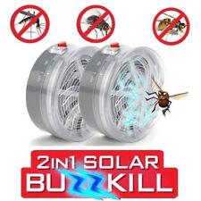 Elektrische Insektenvernichter Solarbetrieben Buzz Insektenfalle MoskitoLampe UV