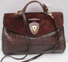 Authentique  sac à main type docteur cuir et daim TBEG  bag vintage