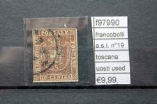 FRANCOBOLLI ASI TOSCANA N°19 USED USATI (F97990)