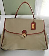 Rare Vtg 1970s retro Italian Nando Tocca beige handbag Xl w/ strap & handle Mint
