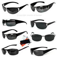 Rennec Sonnenbrille Metall Rahmen Sportlich Schmal Schwarz Cool Security UV400