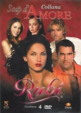4 Dvd Box Cofanetto **RUBI** Telenovelas Collana Soap d'Amore