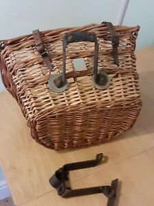 """""""D"""" Shape Wicker Cycle Basket with Spare Frame, Vintage Bicycle"""