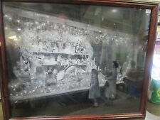 VINTAGE - SCRANTON PA - CHRISTMAS TOY WINDOW DISPLAY - 21 X 18 FRAMED