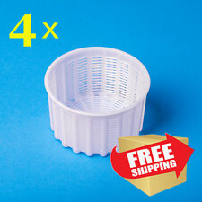 Set of 4 Cheese making mold 0.6 kg | Culture rennet | Basket for Cheese 4 pcs