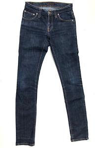 Nudie Jeans 'TIGHT LONG JOHN DENIM STRETCH' Jeans W25 L32 EUC RRP $249 Womens