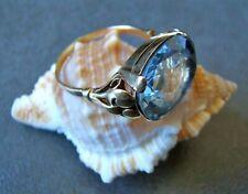 Art Deco 585 Gold Ring mit Aquamarin