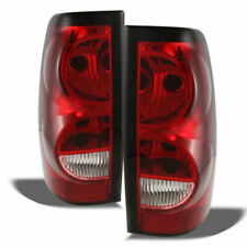 Chevrolet 2003-2006 Silverado Pickup Red Clear Tail Lights lamps 1500 2500 Lt Ls