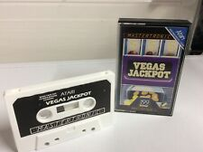 Atari 400 800 130 Xe Vegas Jackpot Cassette juego Mastertronic Vintage Raro Retro