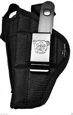 Bulldog Belt Holster With Extra-Magazine Holder For Remington RM 380