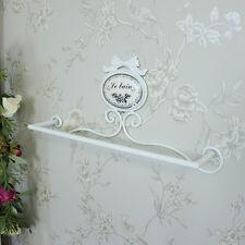 Recargado pintado recargado Toallero De Metal Blanco Soporte Shabby Vintage Chic Cuarto de Baño