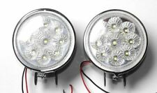 2 x White 12V 9 LED Round Daytime Running Light DRL Fog Day Driving Lamp 009