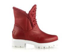 Authentic Nando Muzi Italian Designer Leather Shoes Red Sizes 6,7,8,9,10,11