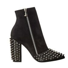 Size 34-44 Women Punk Occident Ankle Boots Studded Rivets Block Heel Pointy Toe