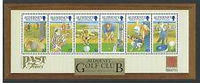 Alderney 2001 30th aniversario del club de golf en miniatura Hoja desmontado como nuevos, estampillada sin montar o nunca montada