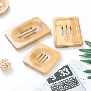 1PCS Wood Bathroom Soap Dish Storage Holder Plate Tray Soap Dispenser Box Case
